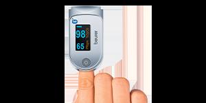 Navigation Blutzucker und Sauerstoffsaettigung messen