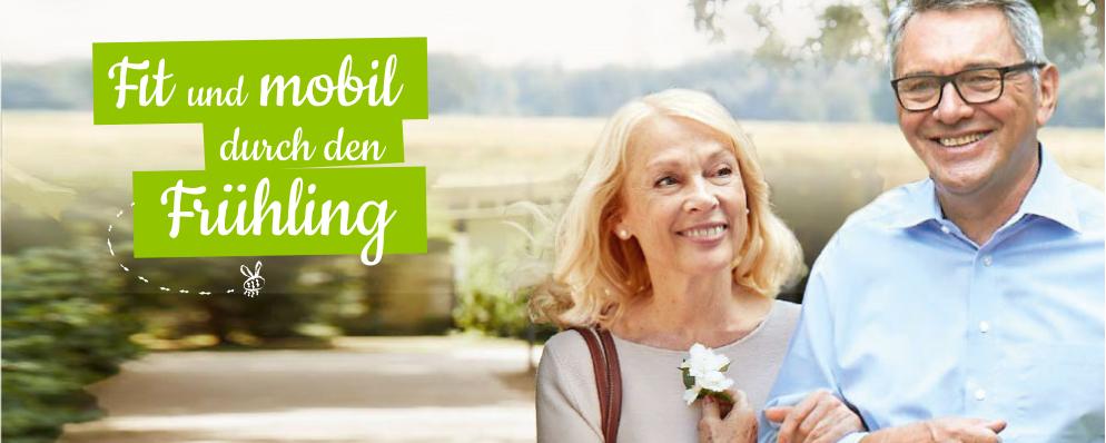 Sanivita - Fit und mobil durch den Frühling - Pärchen beim Spaziergang