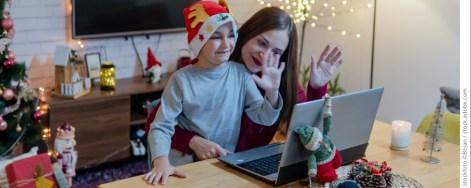 Weihnachtsgrüße per Laptop