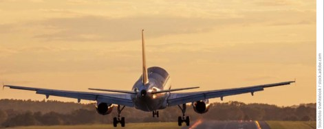 Landendes Flugzeug