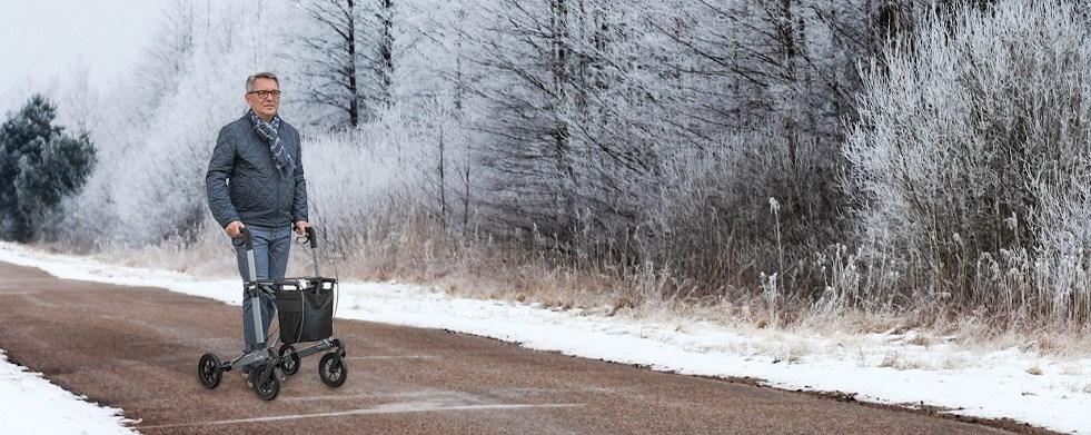 Mit dem Rollator im Herbst und Winter mobil