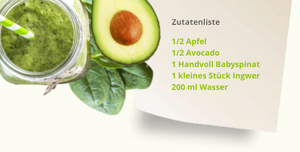 Apfel-Avocado-Smoothie Rezept