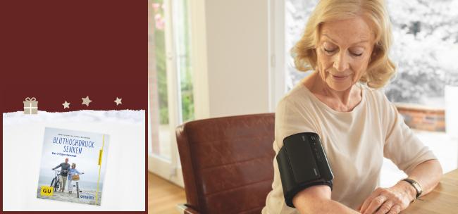 OMRON Oberarm-Blutdruckmessgerät EVOLV + GU-Ratgeber