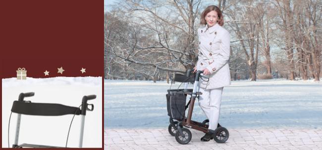 RUSSKA Rollator vital plus + Rückengurt