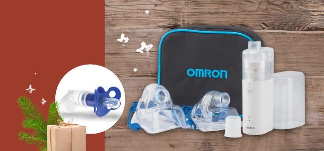 OMRON Inhalationsgerät MicroAIR U100 inkl. Schnullermaske Sanivita