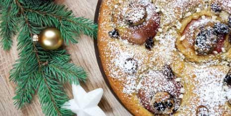 Rezept weihnachtlicher Bratapfelkuchen