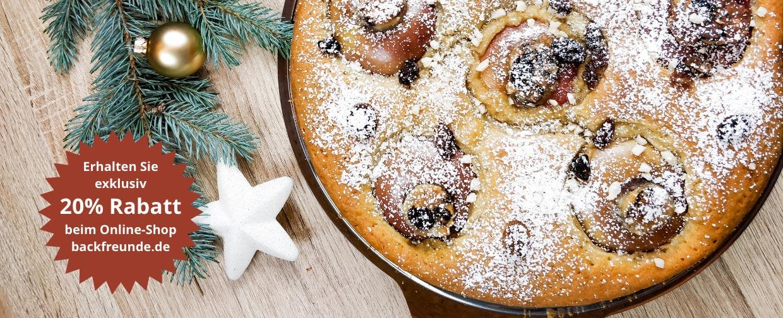 weihnachtsliches bratapfelkuchen rezept 20 prozent rabatt backfreunde onlineshop