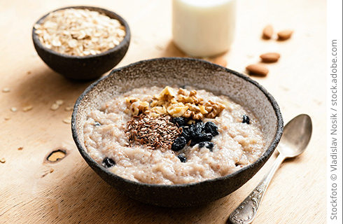 Porridge mit Topping