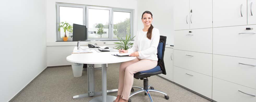 Ergonomisches Sitzen bei der Arbeit